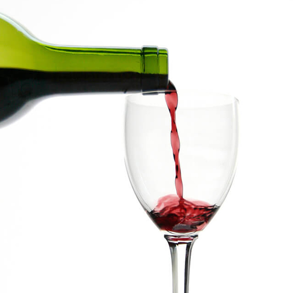 drinking habits affecting your results - wine being poured